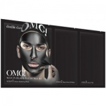 Фото Double Dare OMG! Man In Black Peel Off Mask Kit - Трехкомпонентный комплекс мужских масок Смягчением и восстановление