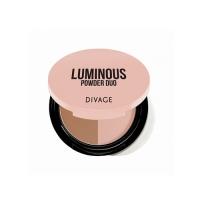 Купить Divage Powder Duo Luminous - Пудра компактная двухцветная, тон 01, 9 гр