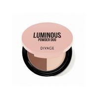 Divage Powder Duo Luminous - Пудра компактная двухцветная, тон 02, 9 гр