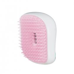 Фото Tangle Teezer Compact Styler Ultra Pink Mint - Расческа для всех типов волос в сочетании белого, розового и голубого оттенков с леопардовым принтом, 1 шт
