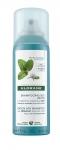 Фото Klorane Mint Detox Dry Shampoo With Organic Aquatic Mint Pollution Exposed Hair - Сухой шампунь детокс с экстрактом водной мяты, 50 мл