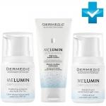 Фото Dermedic Melumin Depigmenting - Набор Уход против пигментации - Дневной крем + Ночной крем + Мицеллярная эмульсия, 50 г + 50 г + 200 г