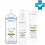 Фото Dermedic Normacne Preventi - Набор От акне и несовершенств - Мицеллярная вода + Крем + Ночной крем, 500 мл + 40 мл + 40 мл
