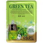 Фото Ekel Green Tea Ultra Hydrating Mask - Маска тканевая с экстрактом зеленого чая, 25 г