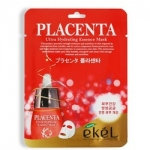 Фото Ekel Placenta Ultra Hydrating Essense Mask - Маска тканевая с экстрактом плаценты, 25 г