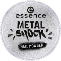 essence B-To-B Metal Shock Nail Powder - Эффектная пудра для ногтей, серебряный тон 01