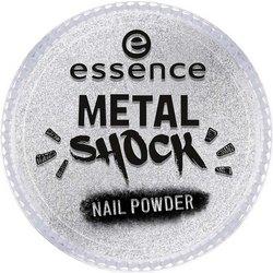 Фото essence B-To-B Metal Shock Nail Powder - Эффектная пудра для ногтей, серебряный тон 01