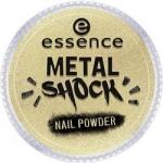 Фото essence B-To-B Metal Shock Nail Powder - Эффектная пудра для ногтей, золотой тон 04