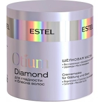 Estel Otium Diamond Mask - Шелковая маска для гладкости и блеска волос, 300 мл фото