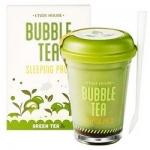 Фото Etude House Bubble Tea Sleeping Pack Green Tea - Маска ночная для лица с экстрактом зеленого чая, 100 г