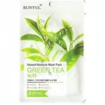 Фото Eunyul Natural Green Tea - Тканевая маска для лица, с экстрактом зеленого чая, 23 г