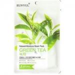 Фото Eunyul Natural Green Tea - Тканевая маска для лица, с экстрактом зеленого чая, 23 г