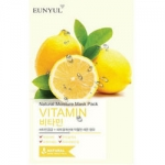 Фото Eunyul Natural Vitamin - Тканевая маска для лица, с комплексом витаминов, 23 г