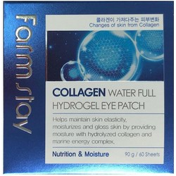 Фото FarmStay Collagen Water Full Hydrogel Eye Patch - Патчи для глаз с коллагеном, 60 шт