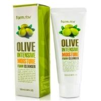 FarmStay Olive Intensive Moisture Foam Cleanser - Пенка очищающая с экстрактом оливы увлажняющая, 100 мл