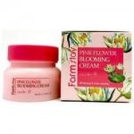 Фото FarmStay Pink Flower Blooming Cream - Крем для лица с экстрактом водяной лилии, 100 мл