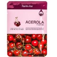 FarmStay Visible Difference Mask Sheet Acerola - Тканевая маска с экстрактом ацеролы, 23 мл