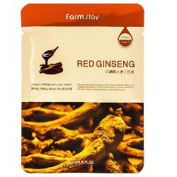 Фото FarmStay Visible Difference Mask Sheet Red Ginseng - Тканевая маска с экстрактом корня красного женьшеня, 23 мл