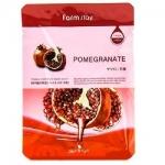 Фото FarmStay Visible Difference Pomegranate Mask Pack - Тканевая маска с натуральным экстрактом граната, 23 мл