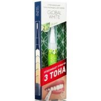 Global White - Карандаш-аппликатор для зубов отбеливающий со вкусом яблока, 5 мл