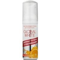 Global White - Пенка отбеливающая для полости рта со вкусом апельсиновый фреш, 50 мл