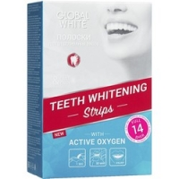 Купить Global White - Отбеливающие полоски для зубов с активным кислородом 14 дней, 14 пар