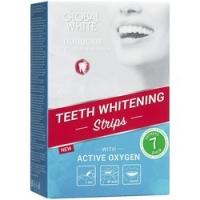 Global White - Отбеливающие полоски для зубов с активным кислородом 7 дней, 7 пар