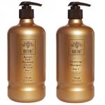 Greymy Clarifying Shampoo + Greymy Keratin Gold Treatment Cream De Lux - Набор Восстанавливающий кератиновый, 2*750 мл