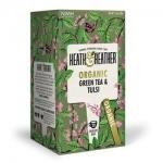Фото Heath and Heather - Чай Зеленый с базиликом Органик, 20  пакетов в индивидуальной упаковке