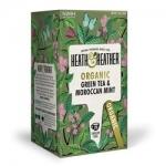 Фото Heath and Heather - Чай Зеленый с марокканской мятой Органик, 20  пакетов в индивидуальной упаковке