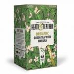Фото Heath and Heather - Чай Зеленый с медом манука Органик, 20  пакетов в индивидуальной упаковке