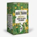 Фото Heath and Heather - Чай Зеленый с огурцом Органик, 20  пакетов в индивидуальной упаковке