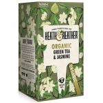 Фото Heath and Heather - Чай Зеленый с жасмином Органик, 20 пакетов в индивидуальной упаковке