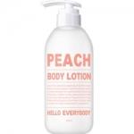 Фото Hello Everybody Peach Body Lotion - Лосьон для тела с экстрактом персика, 500 мл