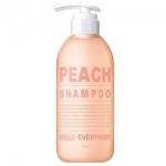 Фото Hello Everybody Peach Shampoo - Шампунь для волос с экстрактом персика, 500 мл