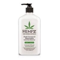 Купить Hempz Fresh Coconut&Watermelon Herbal Moisturizer - Молочко для тела увлажняющее, Кокос и Арбуз, 500 мл