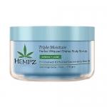 Фото Hempz Triple Moisture Herbal Whipped Creme Body Scrub - Скраб для тела, Тройное увлажнение, 176 гр