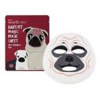 Фото Holika Holika Baby Pet Magic Mask Sheet Anty-wrinkle Pug - Тканевая маска-мордочка против морщинок, Мопс, 22 мл