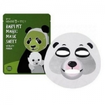 Фото Holika Holika Baby Pet Magic Mask Sheet Vitality Panda - Тканевая маска-мордочка против темных кругов под глазами, Панда, 22 мл