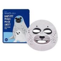 Holika Holika Baby Pet Magic Mask Sheet Whitening Seal - Тканевая маска-мордочка отбеливающая, Тюлень, 22 мл