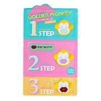 Holika Holika Golden Monkey Glamour Lip 3-Step Kit - Набор для ухода за губами