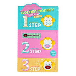 Фото Holika Holika Golden Monkey Glamour Lip 3-Step Kit - Набор для ухода за губами