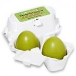 Фото Holika Holika Green Tea Egg Soap - Мыло маска с зеленым чаем, 50 г*2