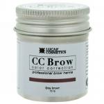 Фото CC Brow Grey Brown - Хна для бровей в баночке (серо-коричневый), 10 г