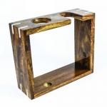 Фото Metzger Rosewood - Стойка для бритья деревянная прямоугольная темно-коричневая 14 см*16 см