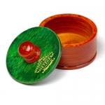 Фото Metzger Rosewood - Чаша для бритья деревянная с зеленой крышкой