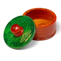 Metzger Rosewood - Чаша для бритья деревянная с зеленой крышкой