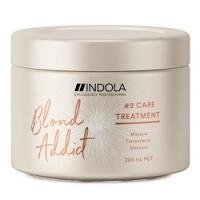 Indola Professional Blond Addict Treatment - Маска для окрашенных и обесцвеченных волос, 200 мл