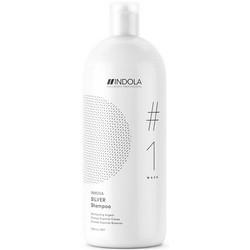 Фото Indola Professional Innova Silver Shampoo - Шампунь, придающий серебристый оттенок волосам, 1500 мл