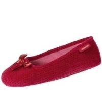 Купить Isotoner - Балеринки 93418 на резиновой подошве, Велюр красный, размер 35-36